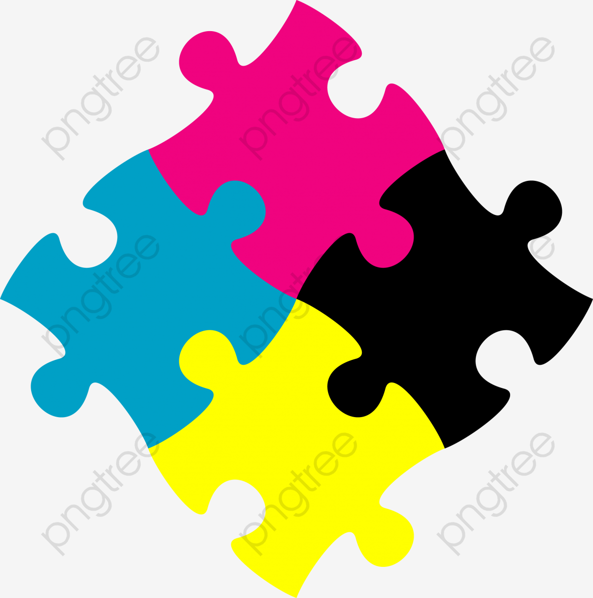 Puzzle Pieces Cartoon, Cartoon Clipart, Leave The Material.