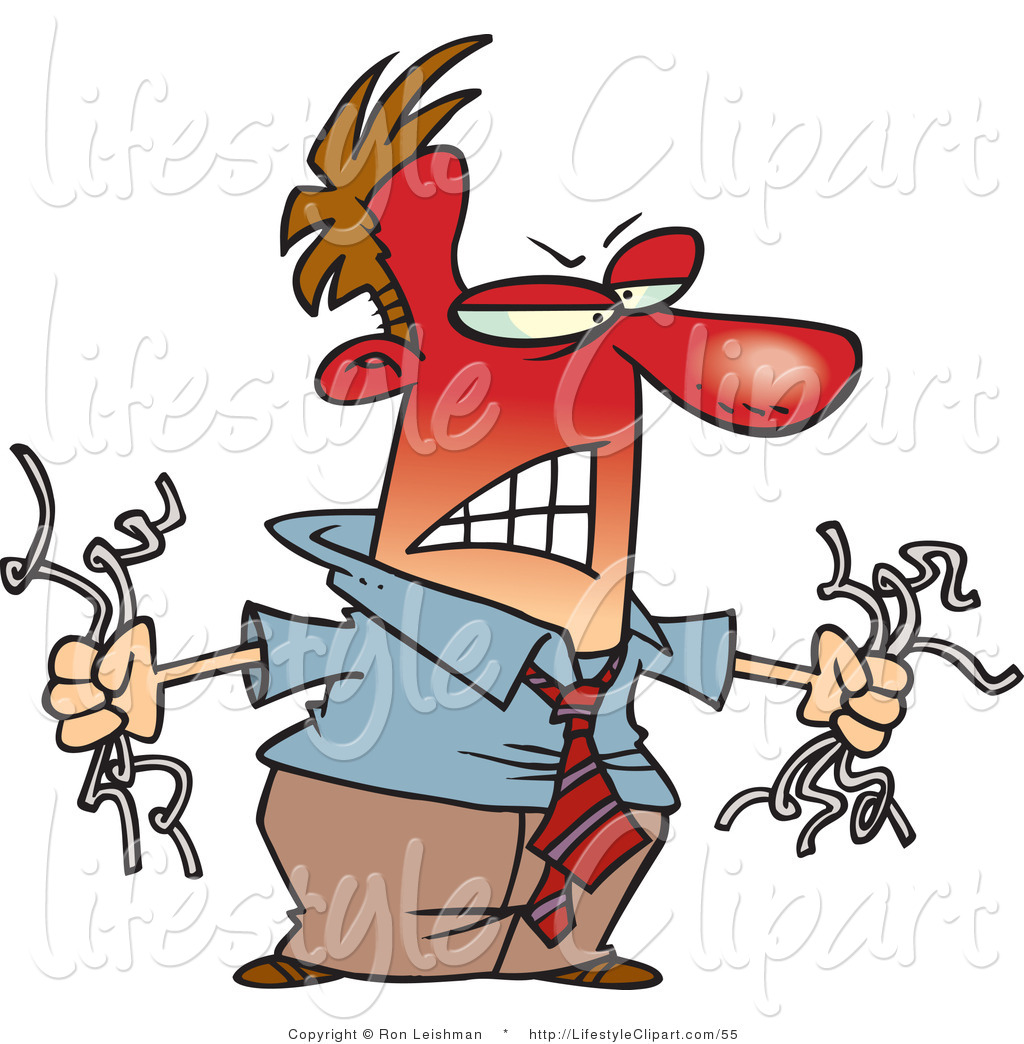 animosity clipart lifestyle clipart of an angry red faced man.