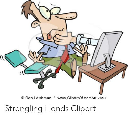 wwwClipartOfcom437697 Ron Leishman Strangling Hands Clipart.