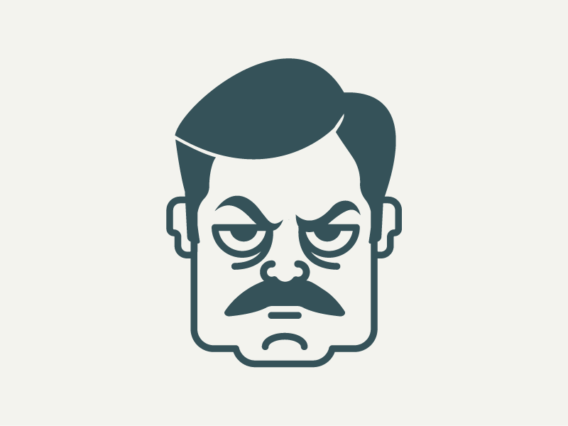Ron Swanson mustache by Francesca Segantini on Dribbble.