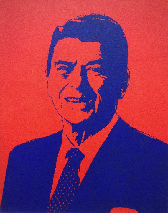 Clip Art of Ronald Reagan in Office.