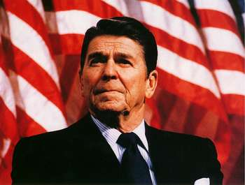 Free Clipart Picture of President Ronald Reagan.