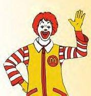 Ronald mcdonald clip art.