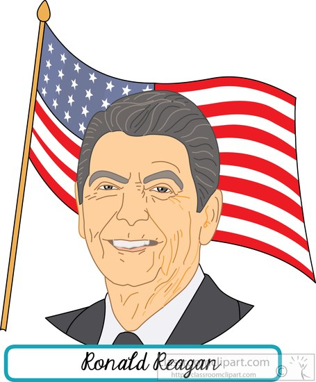 Ronald Reagan Clipart.