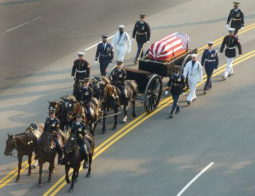 President Ronald Reagan Funeral Procession.