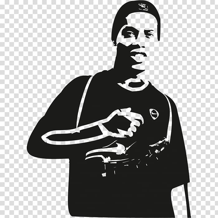 Sticker Ronaldinho Football Shoulder Logo, john lenon.