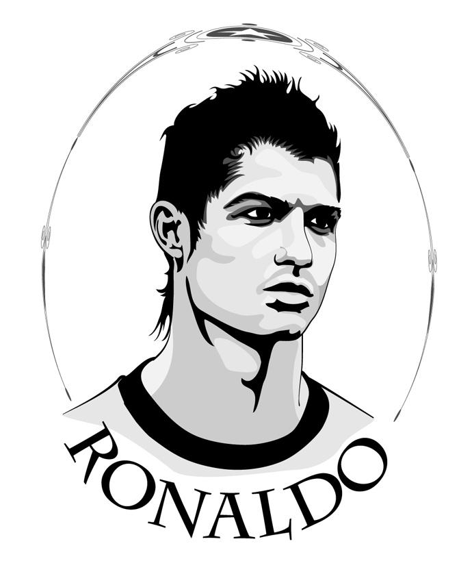 Cristiano Ronaldo Cartoon.