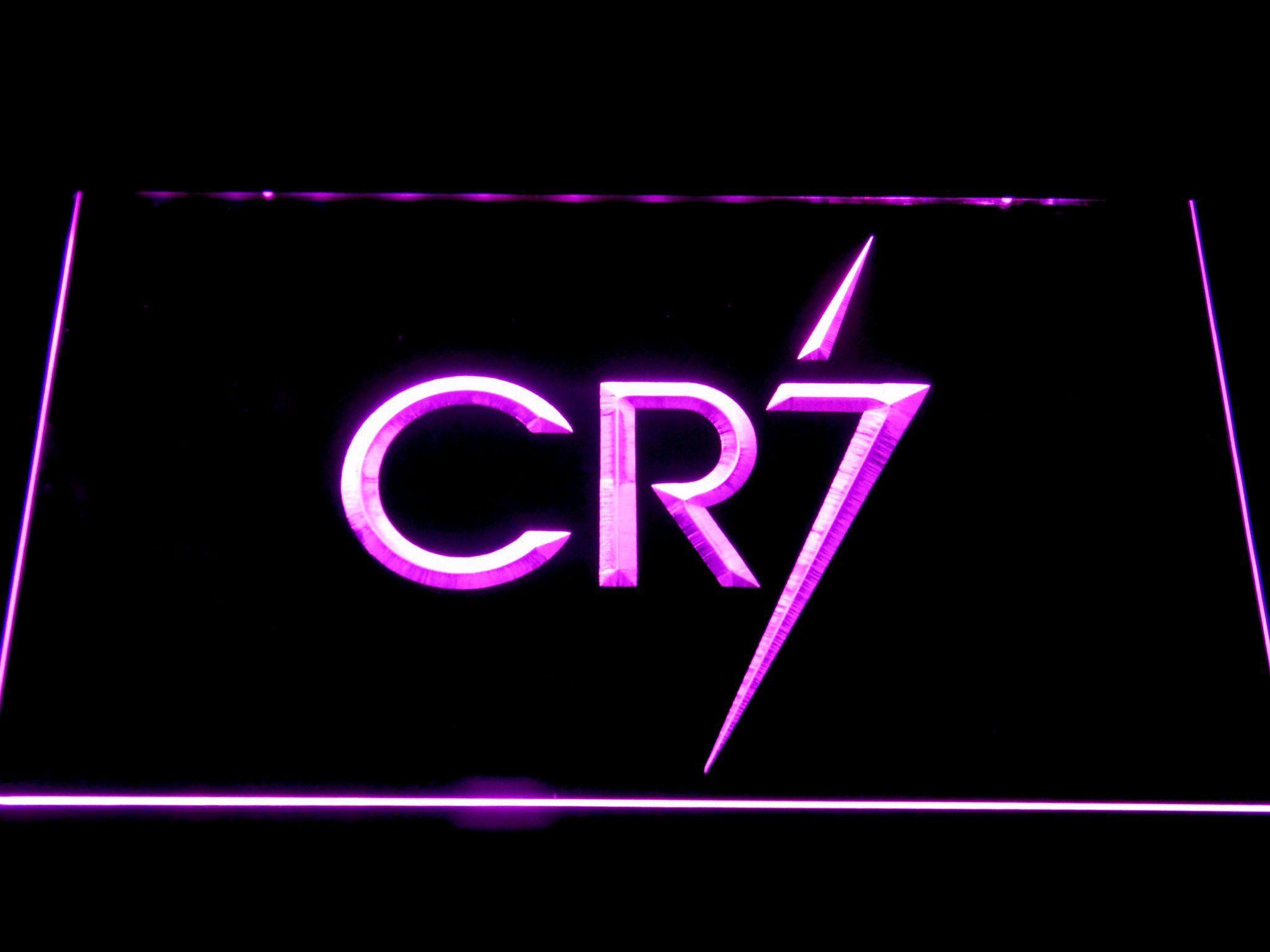 Real Madrid CF Cristiano Ronaldo CR7 Logo LED Neon Sign in.