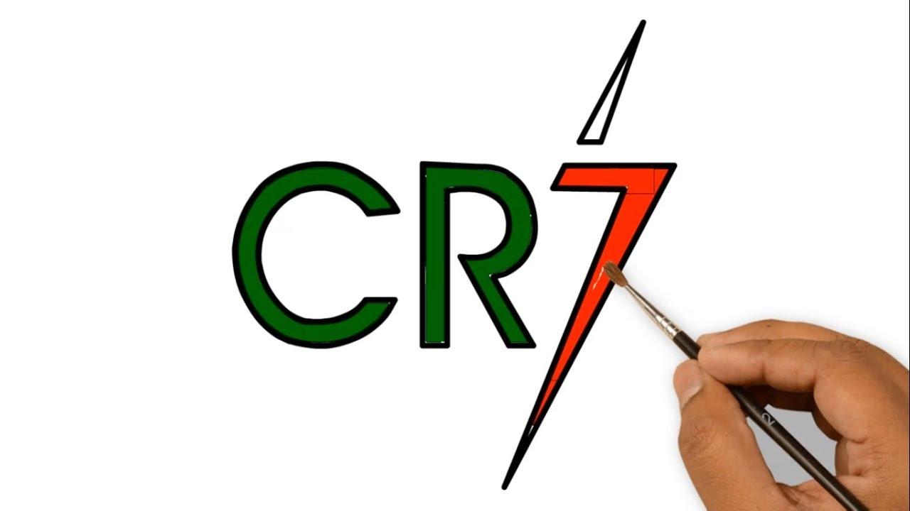 cristiano ronaldo Logo drawing.