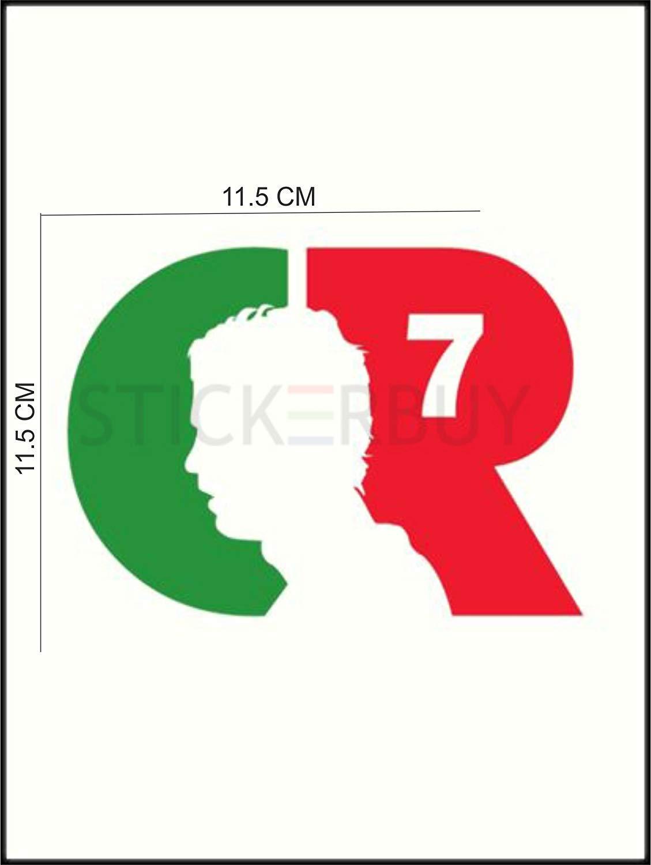 stickerbuy™ Cristiano Ronaldo Logo for All Car & Pulsar.