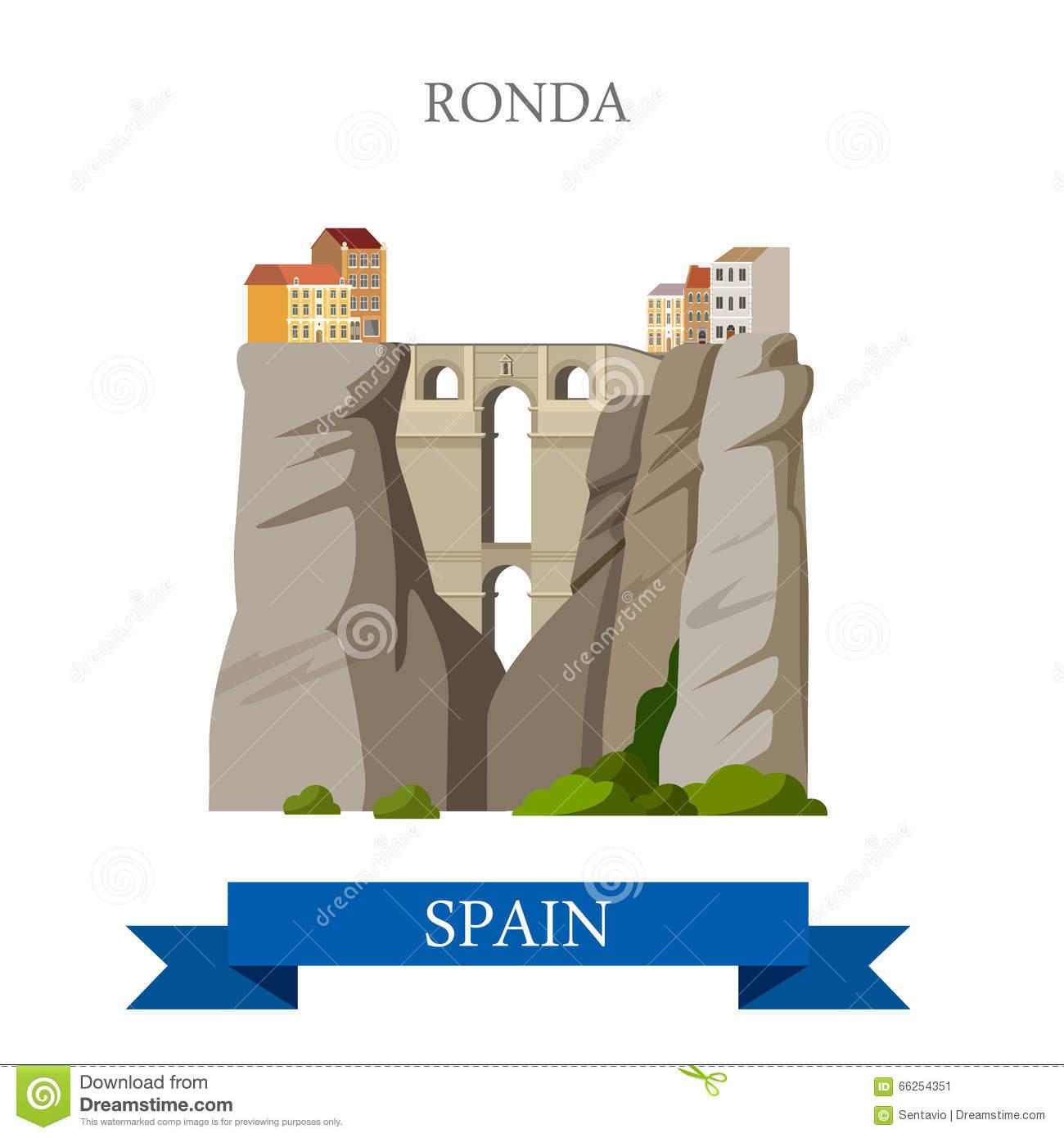 El Tajo Canyon From Ronda, Spain Stock Photo.