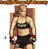 """Ronda """"Rowdy"""" Rousey @ PixelJoint.com."""