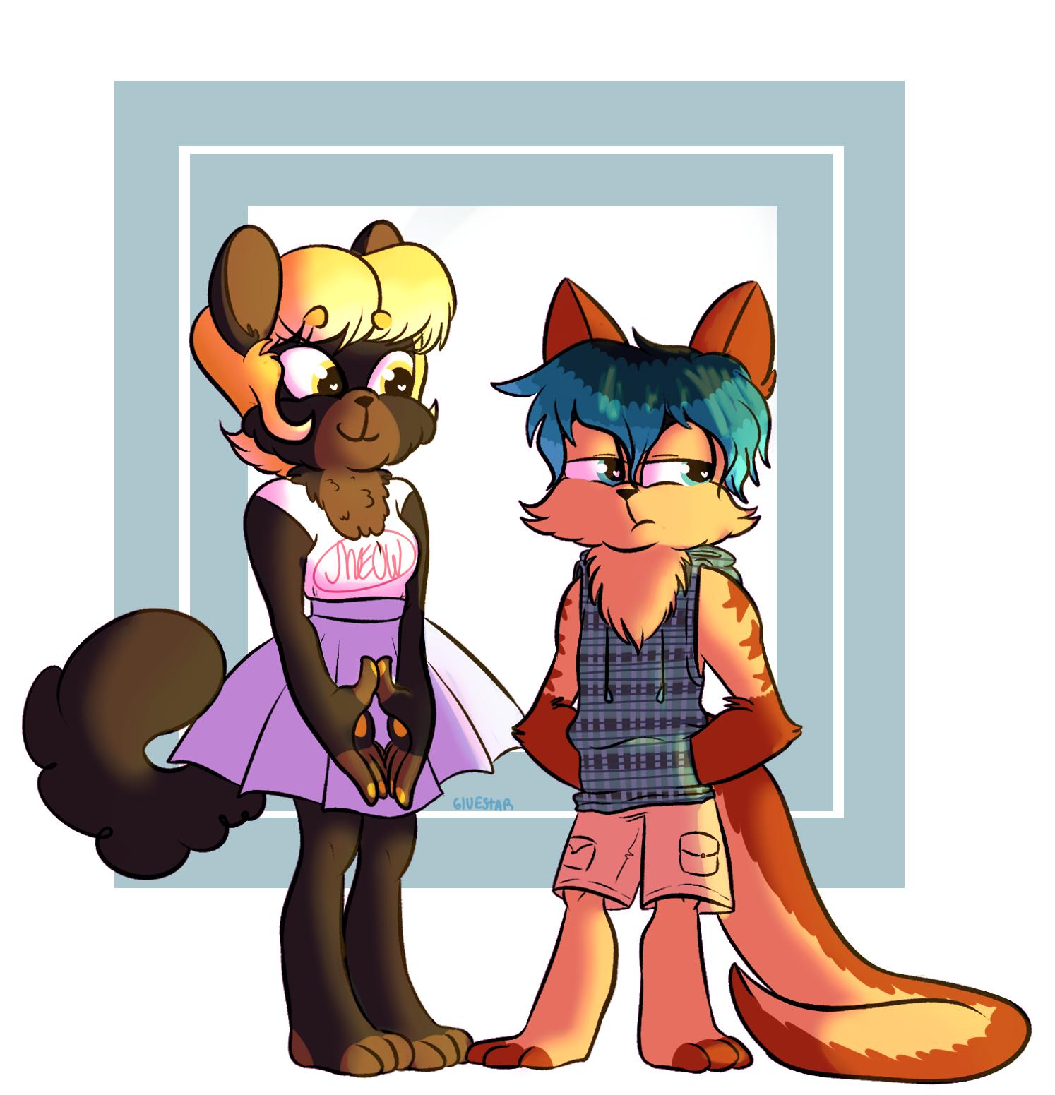 Ronni and Tyrone — Weasyl.