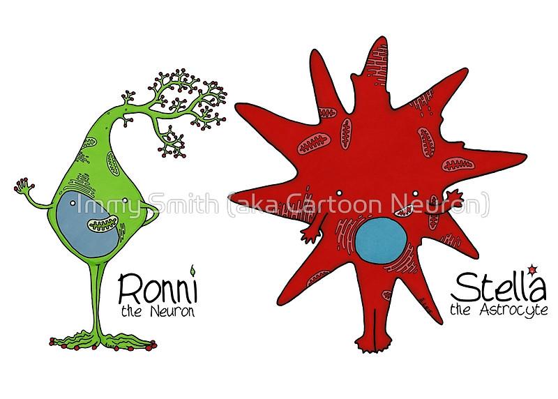 "Ronni & Stella"" Posters by Immy Smith (aka Cartoon Neuron)."