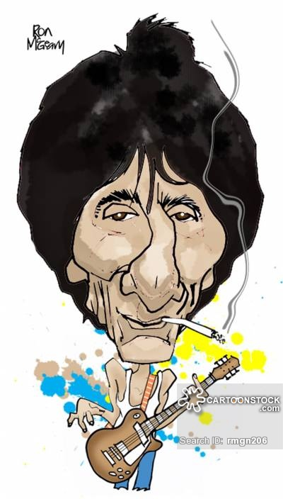 Ronnie Wood Cartoons and Comics.