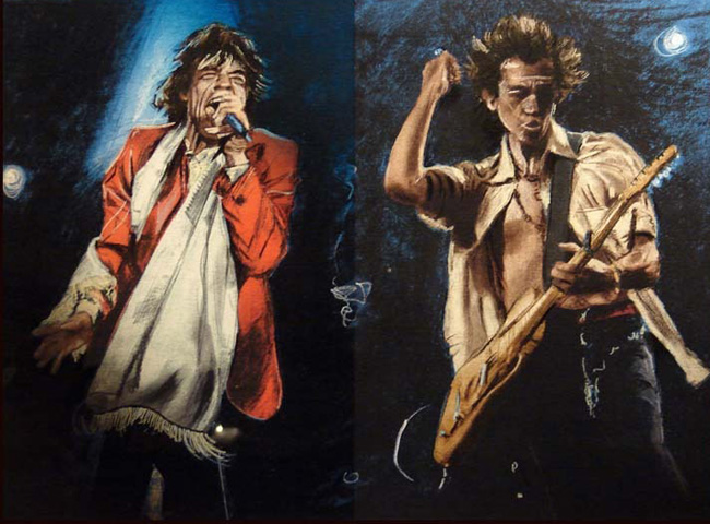 Ronnie Wood (Rolling Stones) Art for Sale.