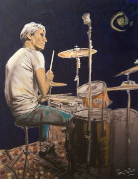 Charlie Watts by Ronnie Wood.