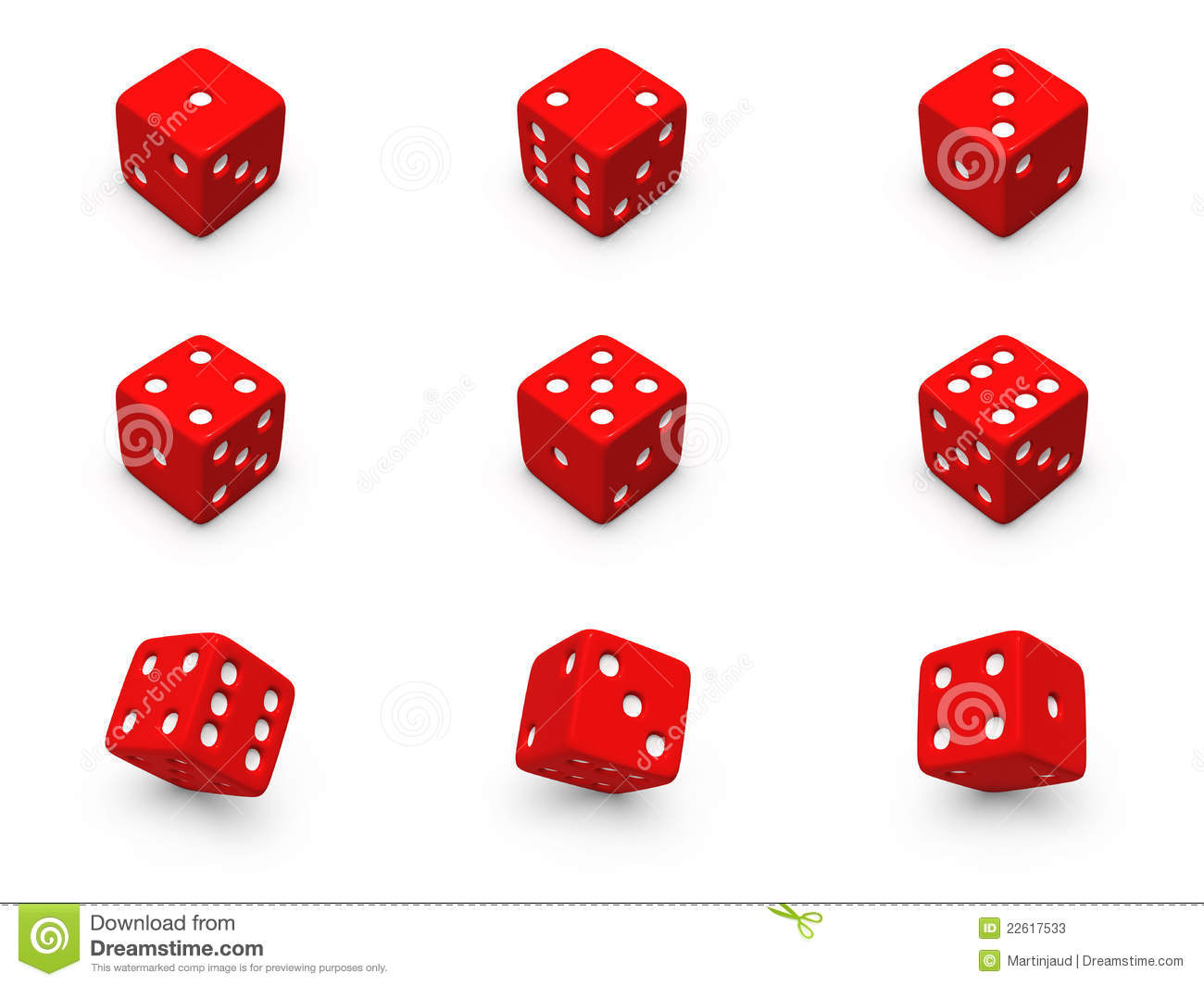 Red Dice Clip Art.
