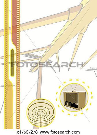 Stock Illustration of Roof VHF Antenna x17537278.