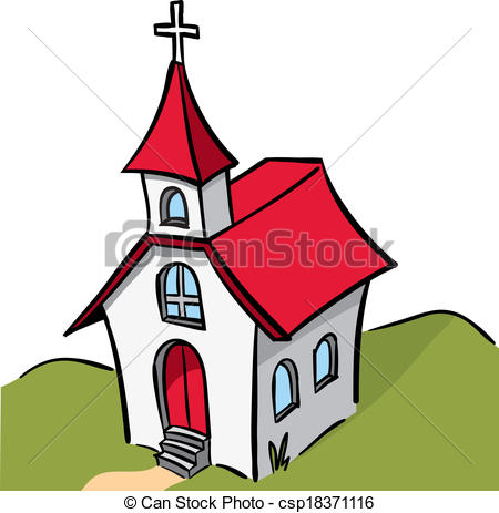 Vector Clip Art of Church.