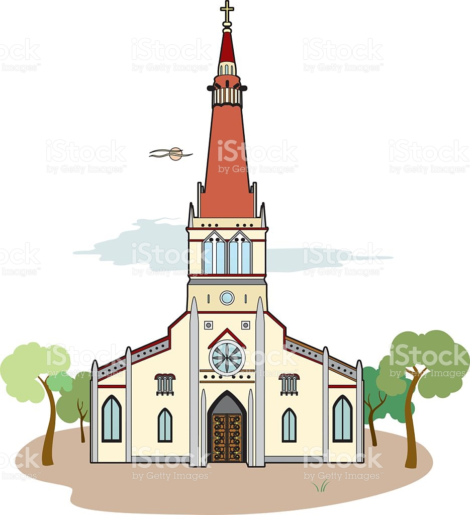 Red Roof Church stock vector art 518844522.