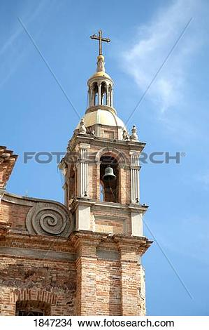 Stock Photo of Puerto Vallarta, Mexico; Church bell tower 1847234.