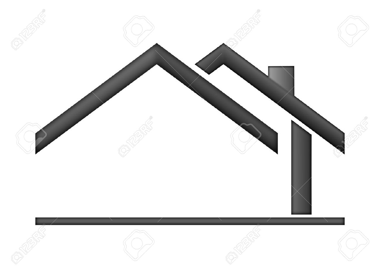 Blue and gray roof clipart logo.