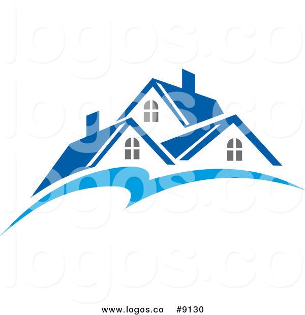 3d roof logo clipart.