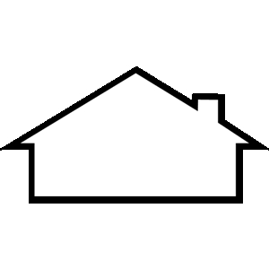 Blank roof outline clipart logo design.