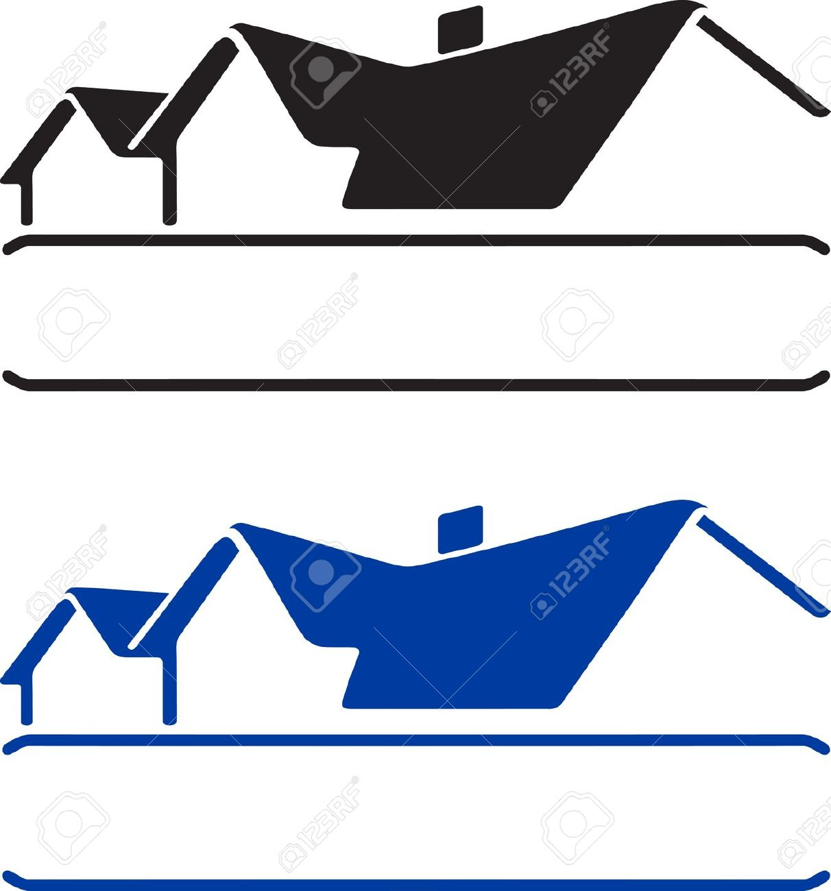 House open roof clipart.