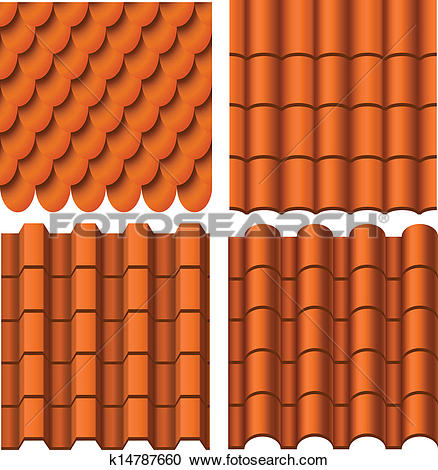 Clipart of Roof pattern set k14787660.