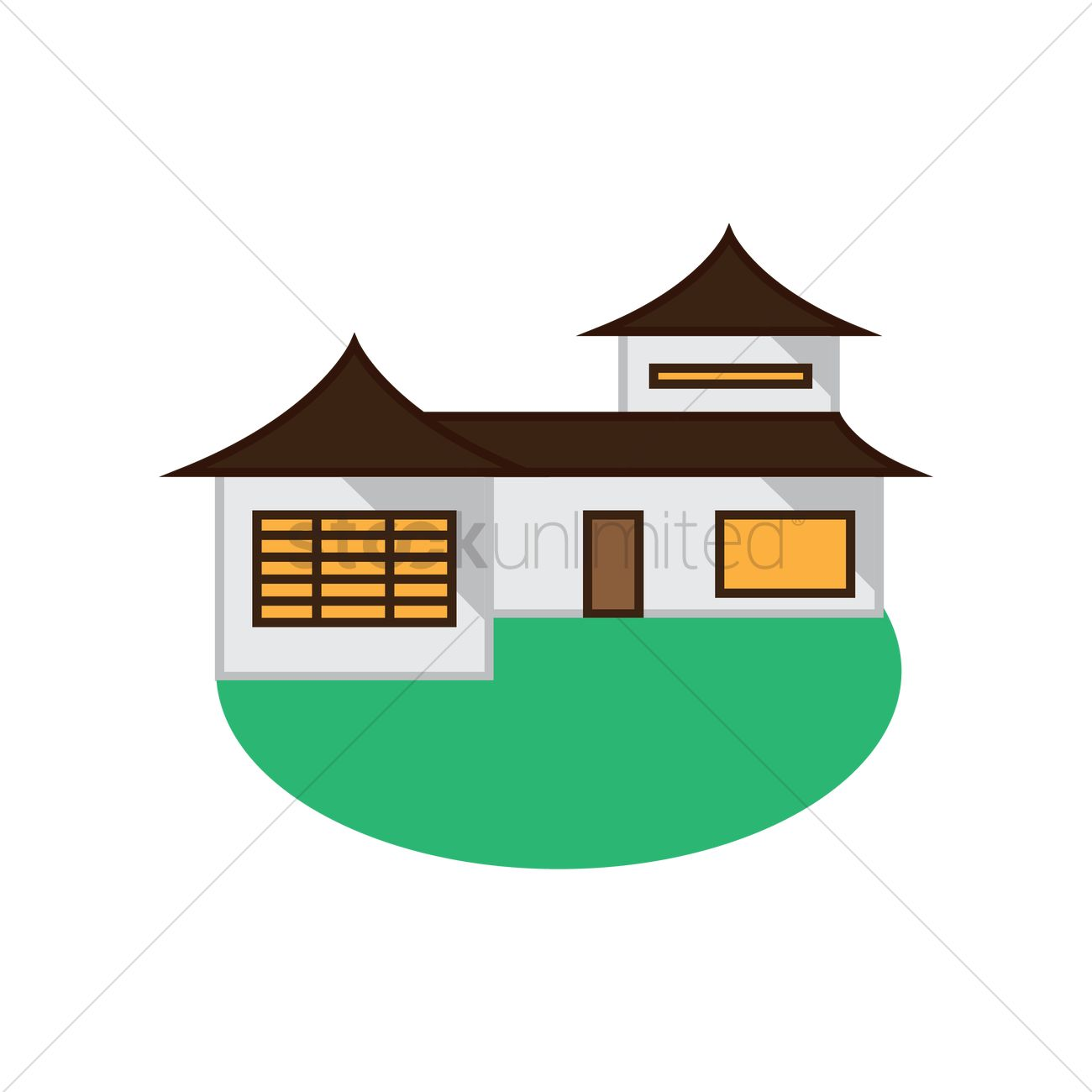 Chinese house Vector Image.