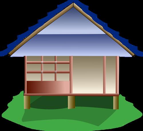 Chinese home cartoon image.
