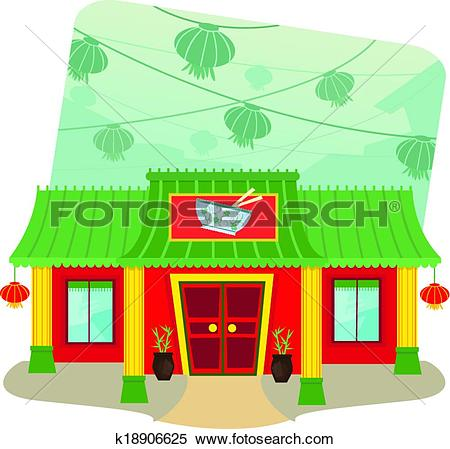Clipart of Chinese Restaurant k18906625.