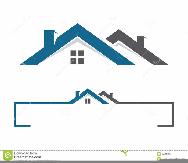 Roof Clipart Logo.