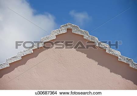 Stock Photo of Roof peak in Bermuda u30687364.