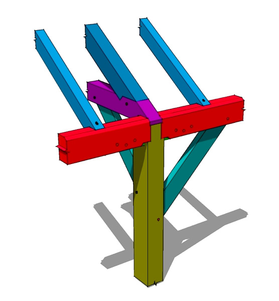 Tie Beam to Plate Tying Joint.