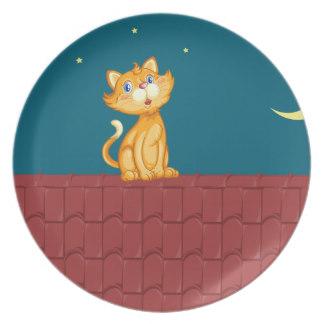 Cat Clipart Plates.