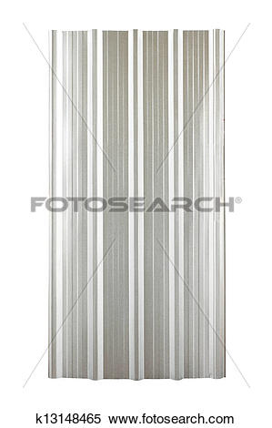 Stock Image of silver corrugated metal roof plate k13148465.