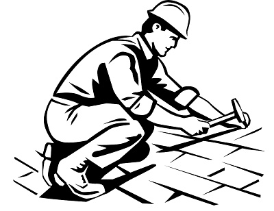 Roof repair clipart.