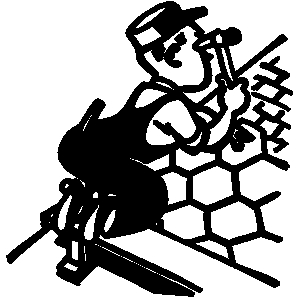 Roofing tools clipart.