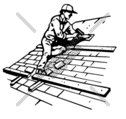 roofer Clipart and Vectorart: Construction.