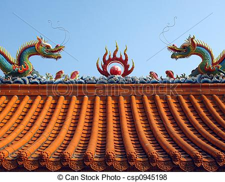 Pictures of Chinese Temple Roof.