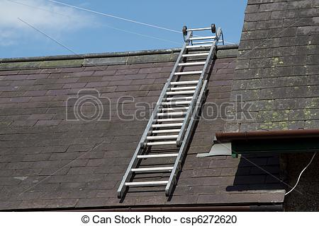 Stock Photography of Roof ladder.