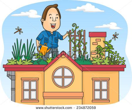 Rooftop Garden Stock Illustrations, Images & Vectors.