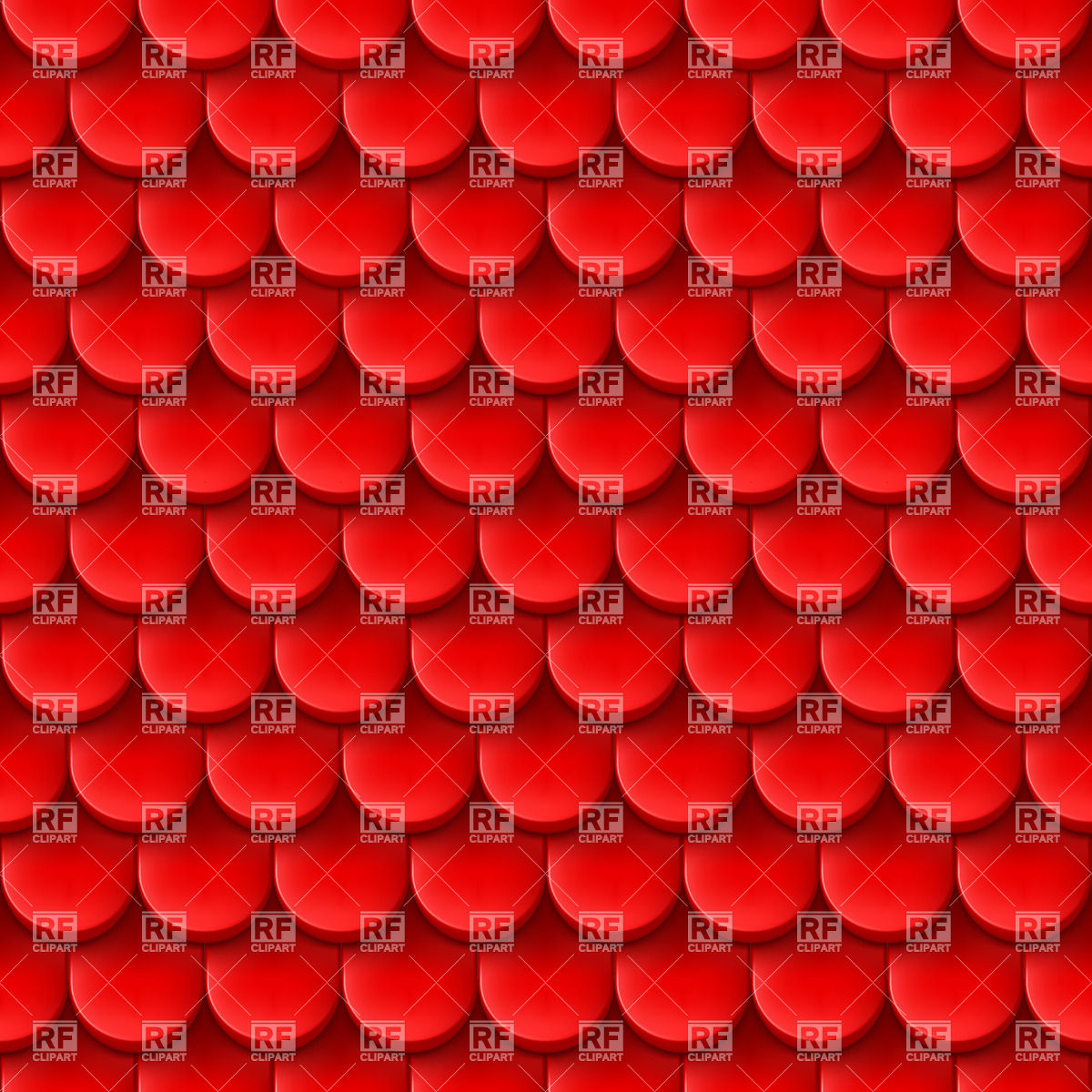 Red background with roof tile pattern Vector Image #20864.