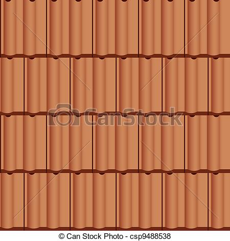 Vector of vector roof tile seamless background csp9488538.