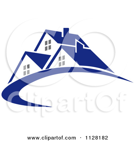 Clipart Of Houses With Roof Tops 14.