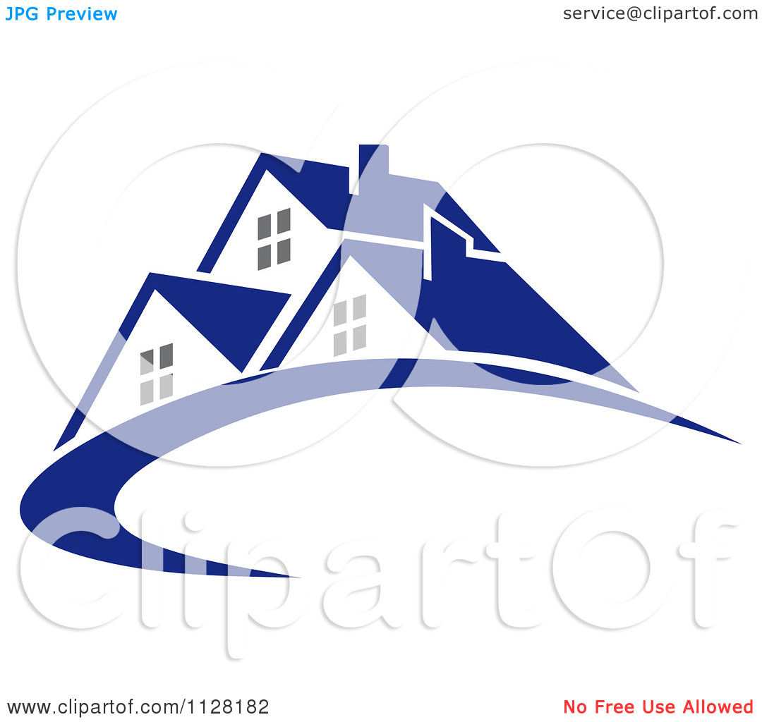 Clipart Of Houses With Roof Tops 5.