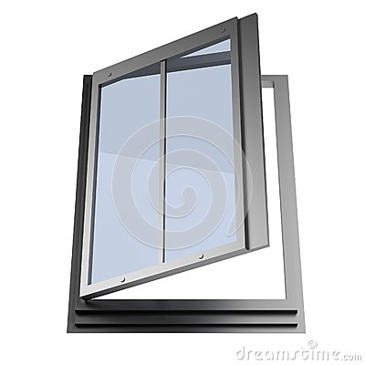 3d Render Of Roof Window Stock Illustration.